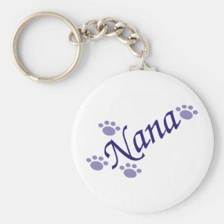 Nana mit den Tatzen Keychain Standard Runder Schlüsselanhänger
