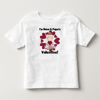 Nana- und Papa-Valentinsgruß-T-Shirts Kleinkind T-shirt