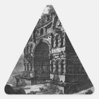 Nannte allgemein den Tempel von Janus durch Dreiecks-Aufkleber