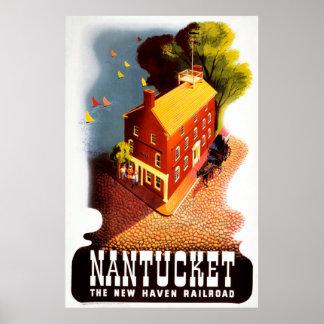 Nantucket das New-Haven Eisenbahn-Vintage Plakat