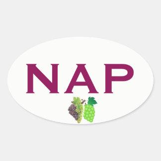 Napa Wein-Land-Euro-ähnlicher ovaler Aufkleber