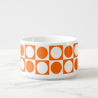 Napf der Suppe mit dem Orangefarbenen Standard Kleine Suppentasse