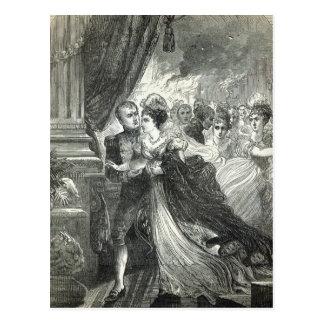 Napoleon und Marie-Louise, die von entgehen Postkarte