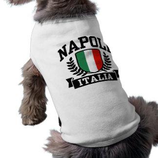 Napoli Italien Ärmelfreies Hunde-Shirt