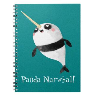 Narwhal und Panda in einem Spiral Notizblock