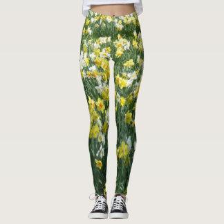 Narzissen-Frühlings-Blumen Legging Leggings