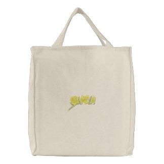 Narzissen-Taschen-Deckel Bestickte Tragetasche