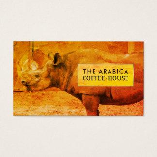 Nashorn, afrikanisches Nashorn, Café Visitenkarte