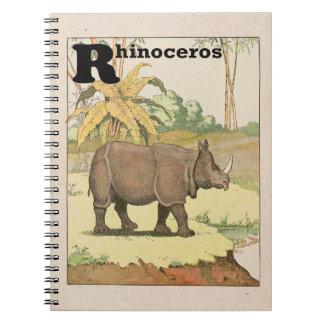 Nashorn-Geschichten-Buch illustriert Spiral Notizblock