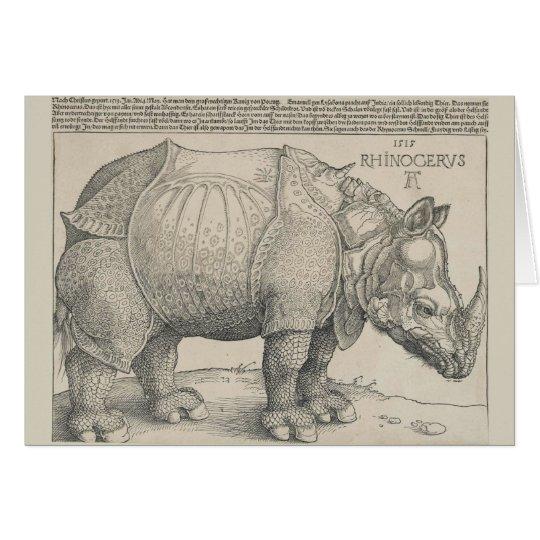 Nashorn, Holzschnitt durch Albrecht Durer Karte