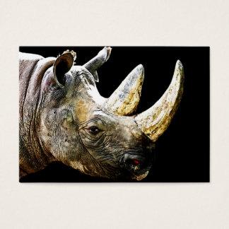Nashorn-Kopf, schwarzer Hintergrund Visitenkarte