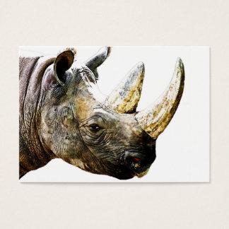 Nashorn-Kopf, weißer Hintergrund Visitenkarte