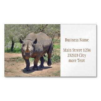Nashorn Magnetische Visitenkarten