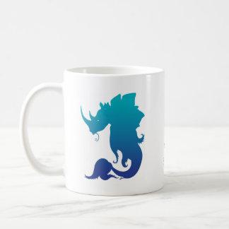 Nashorn-Stego-Fische (Wasser-Farbschema) Kaffeetasse