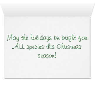 Nashorn-vegane Weihnachtskarte Karte