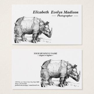 Nashorn von dürer visitenkarte