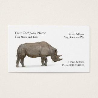 Nashorn-Zoologe-Visitenkarte Visitenkarte
