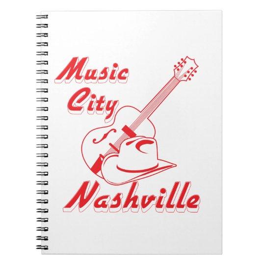 Nashville. Musikstadt Spiral Notizblock
