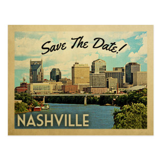 Nashville Save the Date Tennessee Postkarte