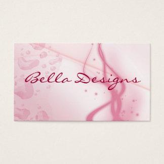 Nasse rosa Visitenkarte, doppelseitig Visitenkarte