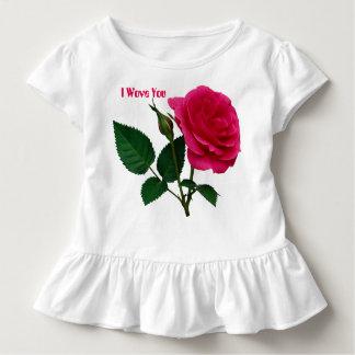 Nasse Rosen-Kleinkind-Rüsche T Kleinkind T-shirt