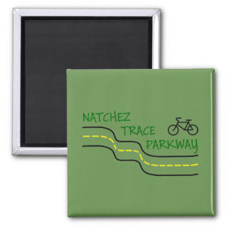 Natchez Spurn-Allee-Kühlschrank-Magnet Quadratischer Magnet