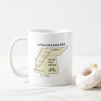 Natchez Spurn-Weg-Karten-Kaffee-Tasse Kaffeetasse
