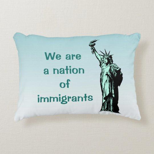 Nation Immigrant-des blauen Akzent-Kissens Dekokissen