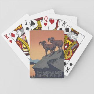 National Park Service-Reise-Plakat-Spielkarten Pokerkarte
