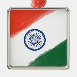 Nationale Land-Nation indische Silbernes Ornament