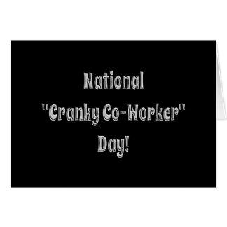 Nationale verschrobe Mitarbeiter-Tageskarte Karte