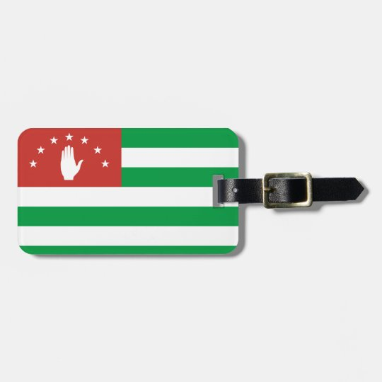 Nationale Weltflagge Abchasiens Gepäckanhänger