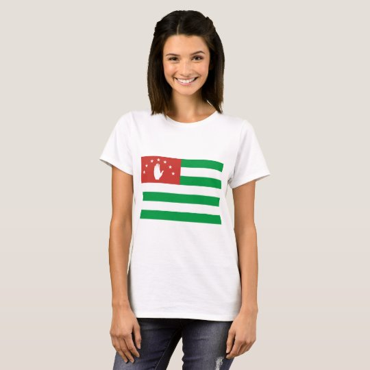 Nationale Weltflagge Abchasiens T-Shirt
