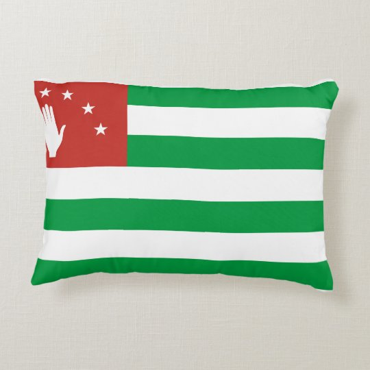 Nationale Weltflagge Abchasiens Zierkissen