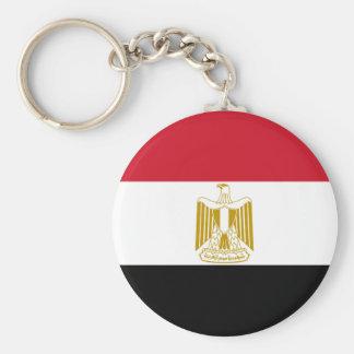 Nationale Weltflagge Ägyptens Standard Runder Schlüsselanhänger