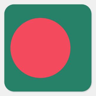 Nationale Weltflagge Bangladeschs Quadratischer Aufkleber