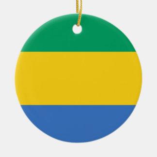 Nationale Weltflagge Gabuns Keramik Ornament