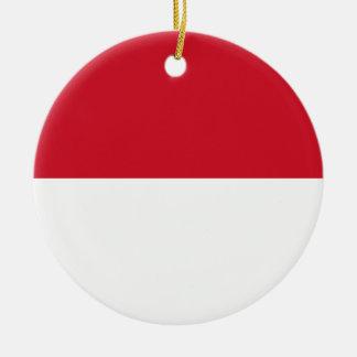 Nationale Weltflagge Indonesiens Keramik Ornament