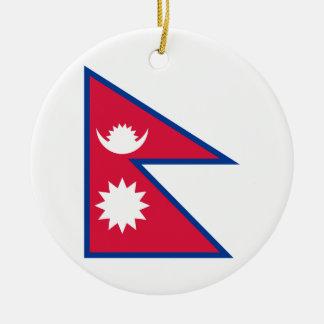 Nationale Weltflagge Nepals Keramik Ornament