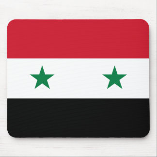 Nationale Weltflagge Syriens Mousepad