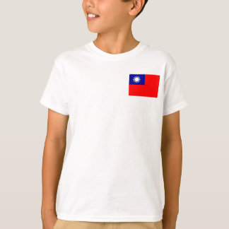 Nationale Weltflagge Taiwans T-Shirt
