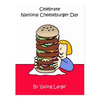 Nationaler Cheeseburger-Tag am 18. September Postkarte