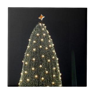 Nationaler Weihnachtsbaum u. Washington-Monument Fliese