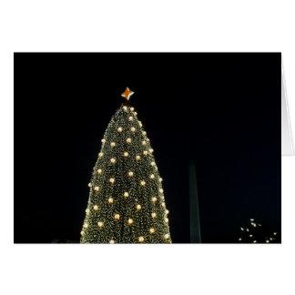 Nationaler Weihnachtsbaum u. Washington-Monument Karte