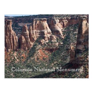 Nationales Monument-Reise-Postkarte Colorados Postkarte