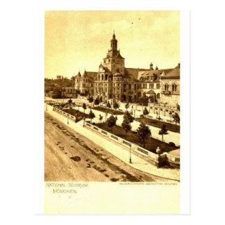 Nationales Museum München Deutschland 1924 Vintag Postkarten