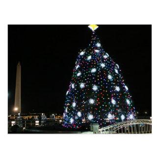 Nationales Weihnachtsbaum-Washington-Monument Postkarte