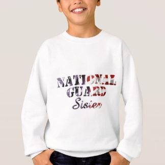 Nationalgarde-Schwester-amerikanische Flagge Sweatshirt