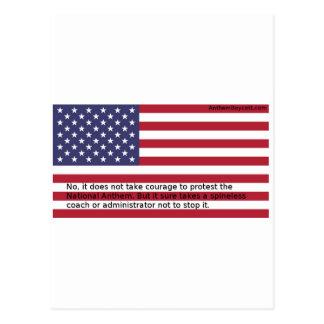 Nationalhymne-Proteste Postkarte
