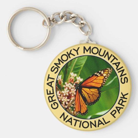 Nationalpark Great Smoky Mountains Standard Runder Schlüsselanhänger